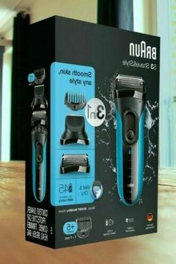 Braun 3010BT S3 Shave & Style Rechargeable Wet Dry Shaver &