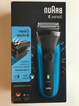 Braun 310S, Series 3 Wet & Dry 3-Flex Rechargeable Shaver Ra