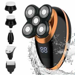 5 Head Floating Electric Shaver Beard Hair Trimmer Bald Head