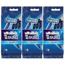 6 x Gillette BLUE 2 Plus Blade Razor Shavers 8-Count Pack of