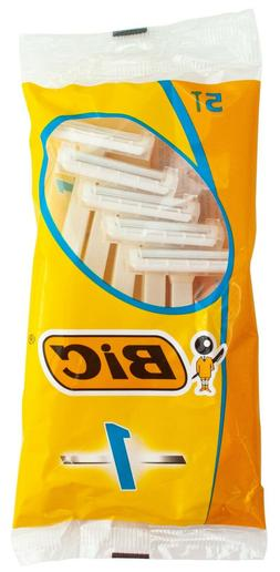 Bic Disposable Razor Shavers Normal Single Blade 5-Count, Pa