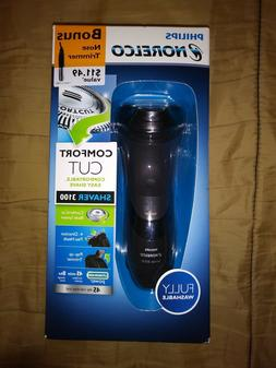 Philips Norelco Electric Shaver 3100 with Bonus Nose Trimmer