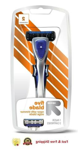 Mens Up & Up Five Blade Razor With Trimmer Edge Blades With