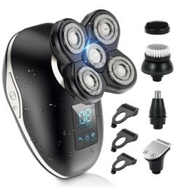 Head Shavers for Bald Men 5 in 1 Wet Dry Electric Razor LED
