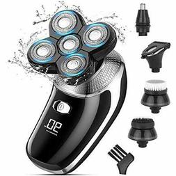 Head Shavers For Bald Mens Electric Rotary Razor Beard Trimm
