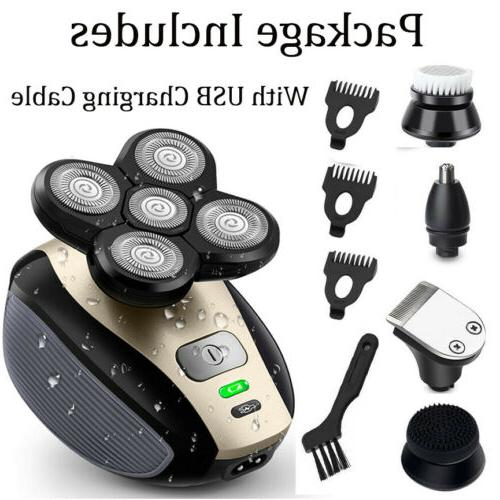 5 1 Rotary Electric Bald Shaver Trimmer