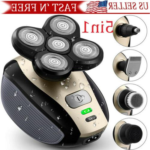 5 in 1 4d rotary electric shaver