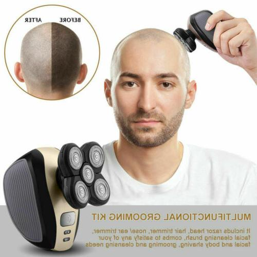 5 4D Rotary Electric Shaver Bald Head Trimmer