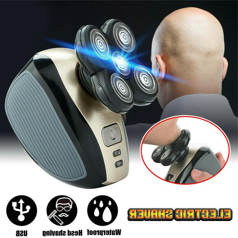 4d rotary electric shaver rechargeable bald head
