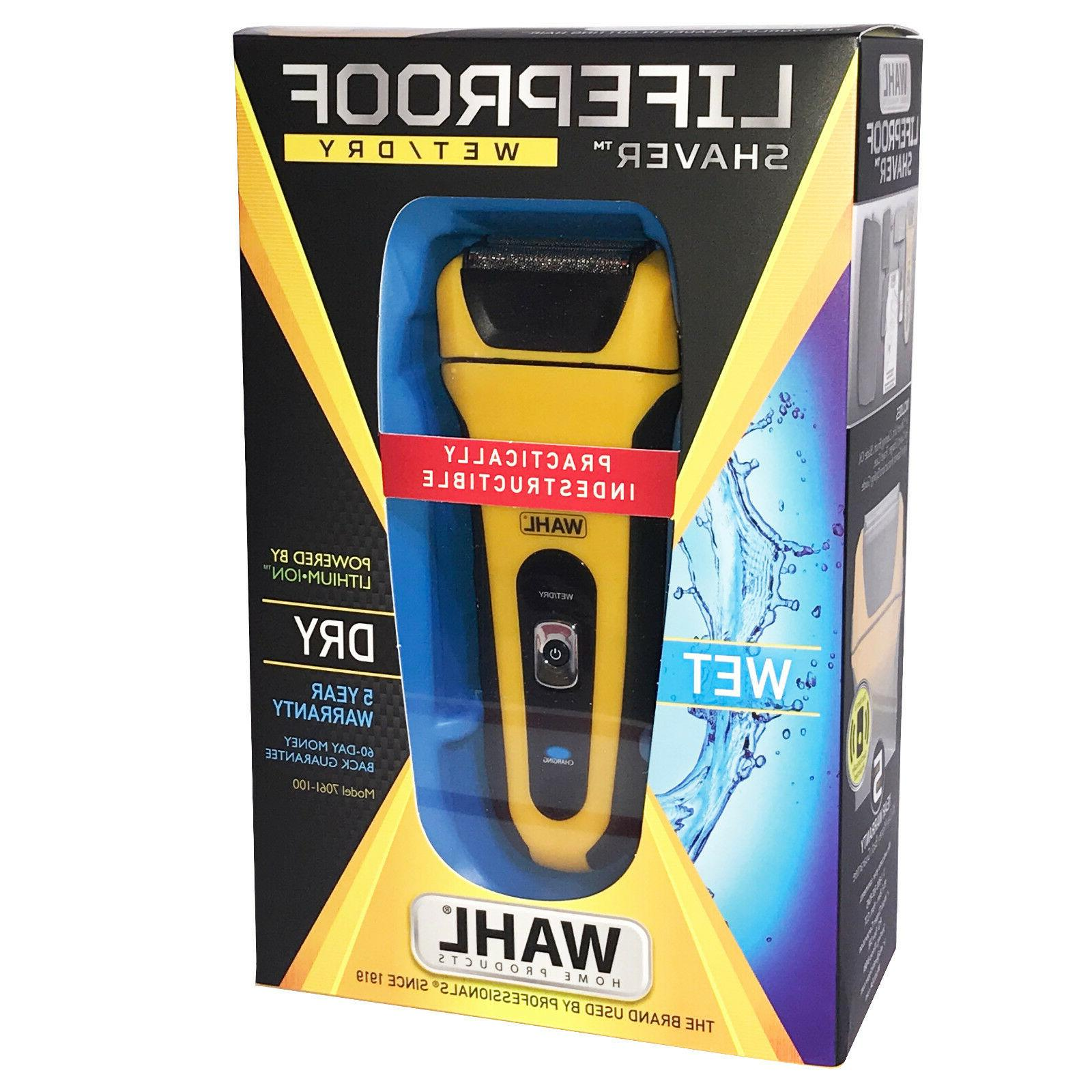 NEW! WAHL LifeProof FOIL SHAVER Lithium Ion Shock-Proof Wate