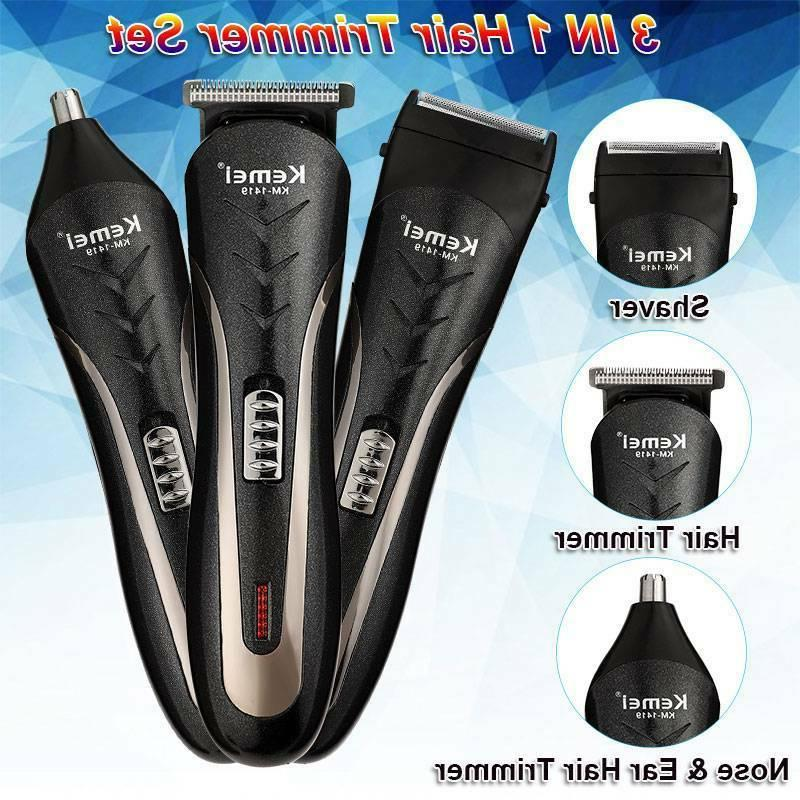 NEW Men's Hair Clippers Trimmers Cutting Cordless Beard Shaver Low