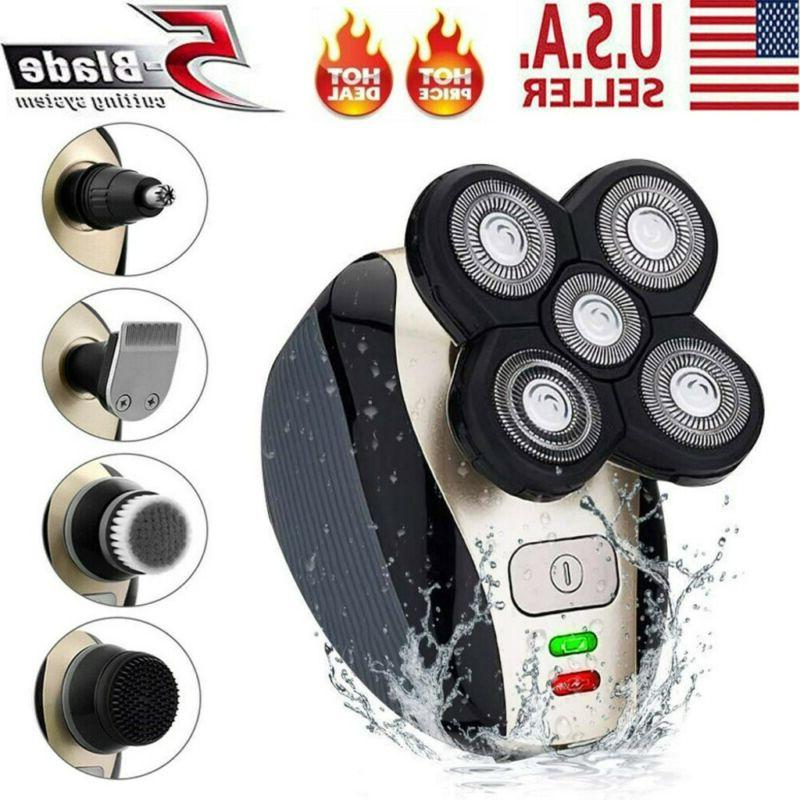 rechargeable 4d rotary electric shaver bald head
