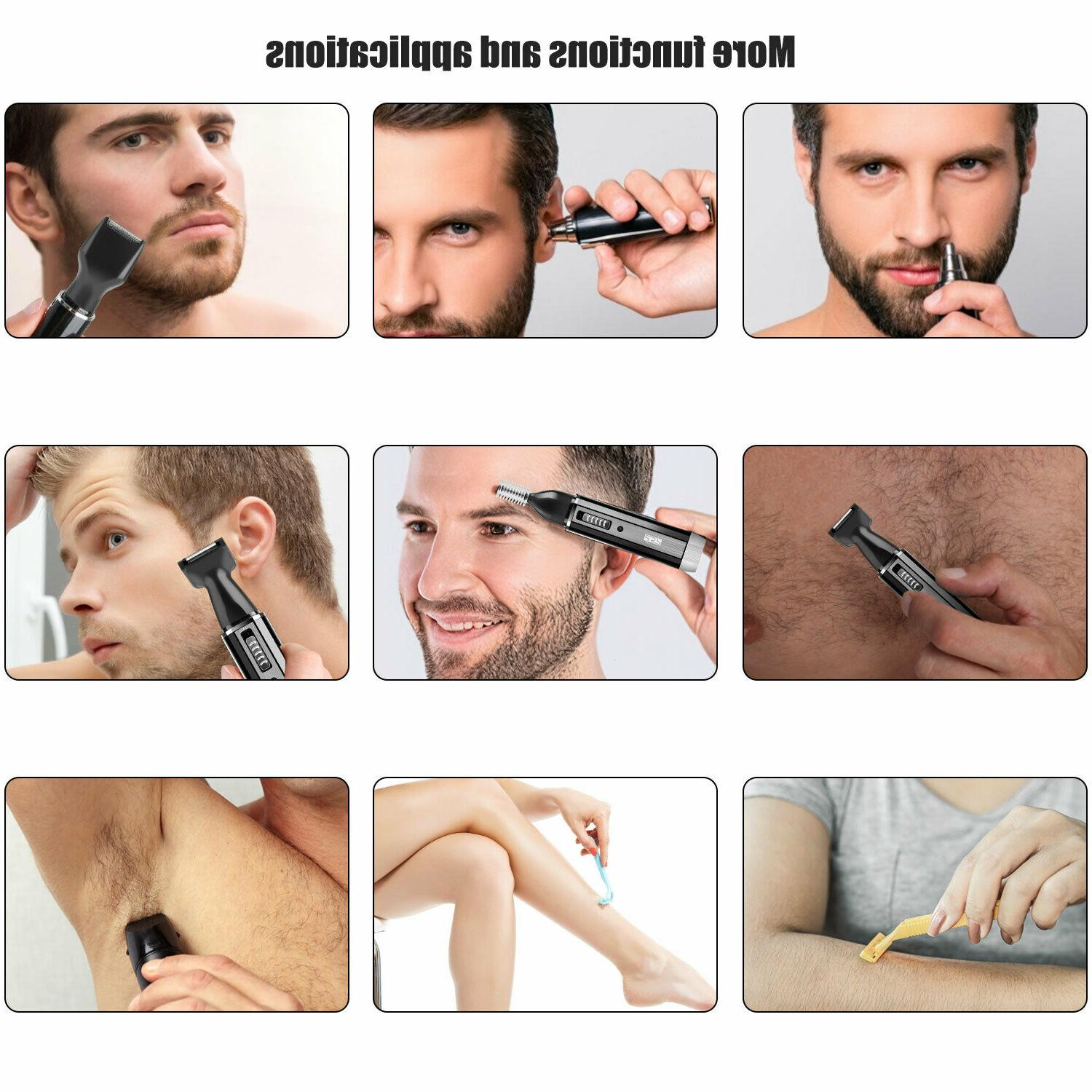 Rechargeable Nose Hair Razor Electric Shaver Set