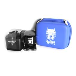 Skull Shaver Pitbull Silver Shaver with Travel Case and Rins