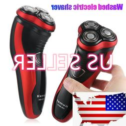 Men Rotary Waterproof Electric Razor Shaver W/ Pop-up Trimme