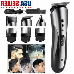 US Wireless Hair Clippers Men Barber Set Rechargeable Trimme