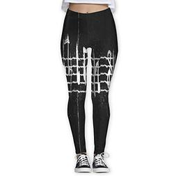 Bei Tang Womens Yoga Pants Excellent Music Notes Slim Fit Le